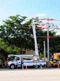Elektrische lijnwachter Royalty-vrije Stock Foto