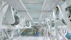 Elektrische Mühlmaschinerie für die Produktion des Weizenmehls Kornausrüstung korn landwirtschaft industriell Stockbild