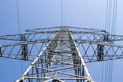 Elektrische machtsmast over land royalty-vrije stock foto's