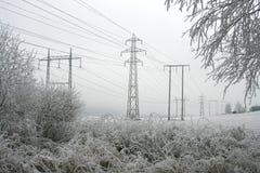 Elektrische mast Stock Afbeeldingen