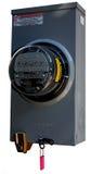 Elektrische Meter met Slot Stock Afbeelding