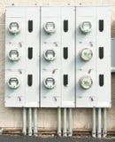 Elektrische meters Stock Afbeeldingen