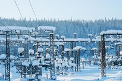 Elektrische Nebenstelle stockfoto