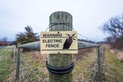 Elektrische omheining Stock Afbeelding
