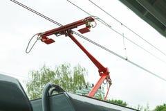 Elektrische pantograaf Stock Foto's