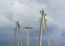 Elektrische Pfosten. Stockbilder