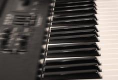 Elektrische piano stock afbeelding