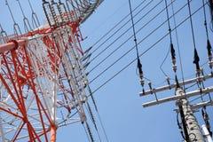 Elektrische Pole Stockfoto