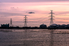 Elektrische Pole Lizenzfreie Stockfotografie