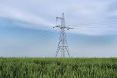 Elektrische powerlines Stock Fotografie