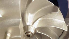 Elektrische Pumpe der Rotorturbine für Wasser oder Flüssigkeit stock video footage