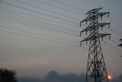 Elektrische pyloon Stock Afbeelding