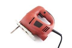 Elektrische rode zaag Stock Afbeelding