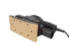 Elektrische Sandpapierschleifmaschine, 1/3. Blatthauptleitungen angeschalten Stockbild