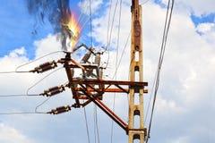 Elektrische schok stock afbeelding
