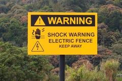 Elektrische schokwaarschuwingsbord royalty-vrije stock fotografie