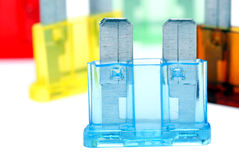 verschiedene farben der autosicherungen stockfotos bild. Black Bedroom Furniture Sets. Home Design Ideas