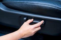 Elektrische Sitzverstellung des Autos Lizenzfreie Stockbilder