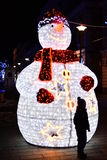 Elektrische sneeuwman. Royalty-vrije Stock Foto