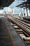 Elektrische Spoorwegtrein in Bangkok Thailand Royalty-vrije Stock Afbeelding