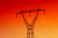 Elektrische Starkstromleitung Stockbild