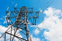 Elektrische Starkstromleitungen Lizenzfreie Stockbilder