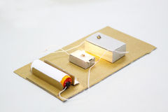 Elektrische Stromkreis-Reihe Stockfoto