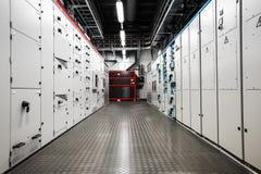 Elektrische stroomsterktecontrolekamer stock foto