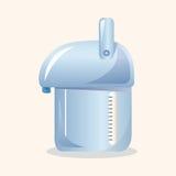 Elektrische Thermosflascheelemente des Haushaltsgerätthemas stock abbildung