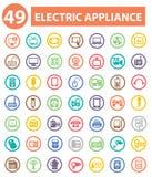 Elektrische toestellenpictogrammen, Kleurrijke pictogrammen Royalty-vrije Stock Foto's
