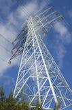 Elektrische Toren met hoogspanningskabel royalty-vrije stock foto