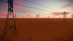 Elektrische Torenachtergrond stock footage