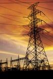 Elektrische torens royalty-vrije stock fotografie