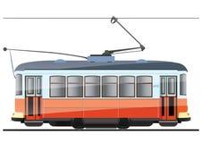 Elektrische tram royalty-vrije illustratie