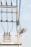 Elektrische Transformator Stock Foto's
