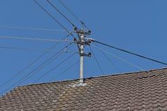Elektrische transmissiedraden Royalty-vrije Stock Afbeeldingen