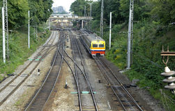 Elektrische trein Royalty-vrije Stock Fotografie