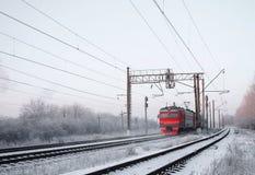 Elektrische trein Royalty-vrije Stock Afbeeldingen