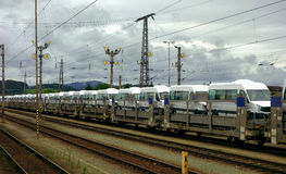 Elektrische trein in Duitsland Royalty-vrije Stock Afbeeldingen