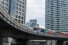 Elektrische trein zachte nadruk Stock Foto's