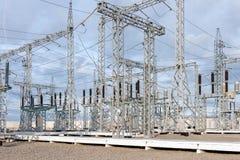 Elektrische Umspannstation Stockfoto