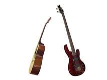 Elektrische und klassische Gitarren Lizenzfreies Stockfoto