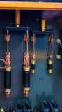 Elektrische und Messinginstallationen für NY schließen System auf dem Hudson zu Lizenzfreies Stockfoto