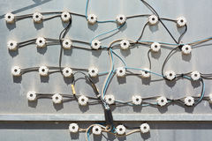Elektrische Verbindungsstücke Stockfoto