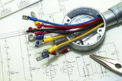 Elektrische Verdrahtung Lizenzfreies Stockfoto