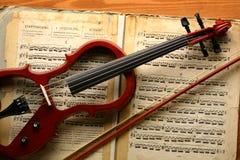 Elektrische viool Stock Foto's