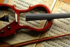 Elektrische viool Stock Foto