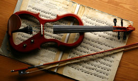 Elektrische viool Royalty-vrije Stock Afbeelding