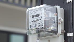 Elektrische voedingmeter stock videobeelden