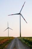 Elektrische windgenerators Stock Foto's